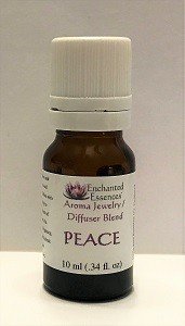"""Peace"" Essential Oil Blend for Jewelry and Diffusers 10ml"