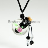 Glass Bottle with Cork Aroma Jewelry- Black